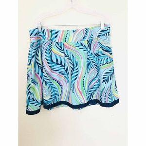 Lilly Pulitzer Silk Pleated Flare Mini Skirt Sz 12